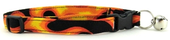 ORANGE FLAME CAT COLLAR