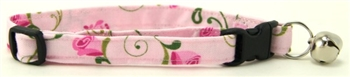 PINK ROSEBUD CAT COLLAR