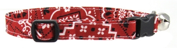 RED BANDANA CAT COLLAR