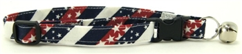 RED, WHITE & BLUE CHEVRONS CAT COLLAR