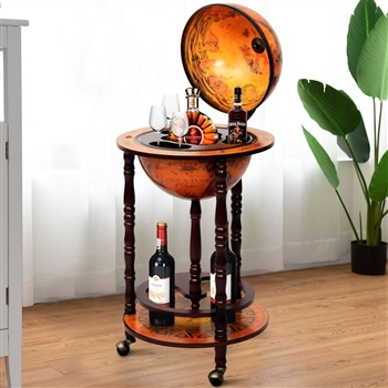 Vintage Globe Wine Stand Bottle Rack