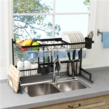 2 Tier Stainless Steel Over Sink Dish Drainer