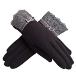 High Quality Women Winter Warm Gloves/ Lace Gloves/ Vintage Style