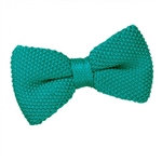 Teal Knitted Bow Tie