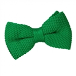 Forest Green Knitted Bow Tie