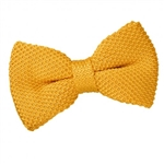 Marigold Yellow Knitted Bow Tie