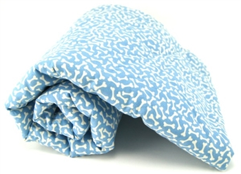 LIGHT BLUE BONES PET BLANKET