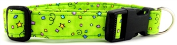LIME GREEN CELEBRATION DOG COLLAR