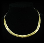 Mens Hip Hop 18K Gold Plated Links Necklace Chain