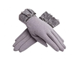 Simple Warm Gloves for Women Lace Wool Gloves