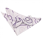 Purple Scroll Patterned Bow Tie 2 pc. Set