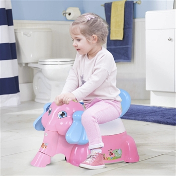 Elephant Shaped Baby Potty Training Toilet with Music Function
