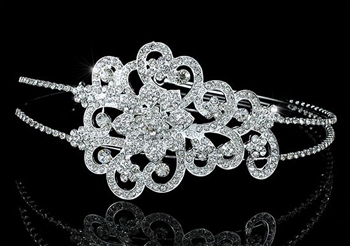 Bridal Side Headpiece Vintage Style Art Deco Tiara