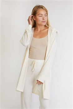 HOODED JERSEY ROBE & PANTS LOUNGEWEAR