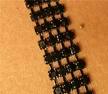 Black Rhinestone Jewel Straps