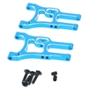 02161B Aluminum front lower arms (2pcs)(blue)