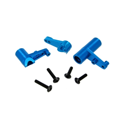 Aluminum Servo Saver and Bell Crank Set, Blue 122057