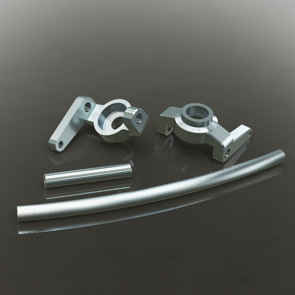 Redcat Racing 180090S Aluminum High Steering Knuckles (L/R) Also includes curved aluminum steering link and aluminum servo link 180090S