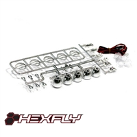 HX-LED-002C LED Crawler Light Bar Set(5 Spotlight) Chrome(LED lights are white, Plastic Light bar is chrome)