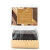 Pack of 10 Chocolate Tasting Squares: Semisweet Chocolate, made using Belgian dark chocolate couverture, 55% cocoa solids.