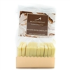 Pack of 10 Chocolate Tasting Squares: White Chocolate, made using Belgian white chocolate couverture.