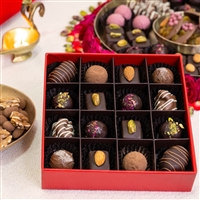 Deepavali Gift Box Corporate - Collection of 16 delectable chocolates inspired by the flavours of Deepavali