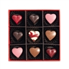 Valentine's Day Hearts Collection: Gift Box of 9 Chocolates