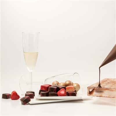 Valentine's Day date with Chocolate and Champagne: Champagne and chocolate pairing, and, hands-on chocolate making workshop