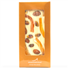 Artisanal Chocolate Bar made with creamy, Belgian white chocolate couverture, whole pistachios, candied orange peel, and whole toasted almonds. Gluten free