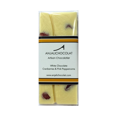 White Chocolate with Cranberries and Pink Peppercorns Bar