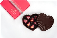 Chocolate heart, filled with chocolate heart bonbons