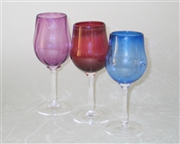 Handmade Glass Long Stem Goblets