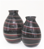 Black and Red Swirl Vase