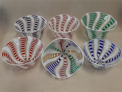 Twisted Cane Candy Dish