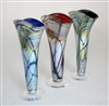 Iridized Fan Vases