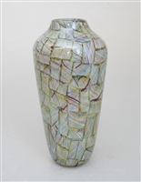 Tall Rainbow Mosaic Vase