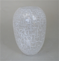 White Filigrana Mosaic Vase