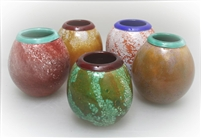 Round Powder Vases