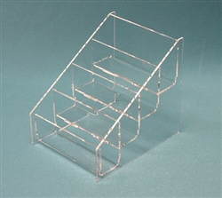 "B4MT2 2 Tier Post Card Holder  2 Tier 5"" H x 6 1/2"" W x 4 1/4"" D"