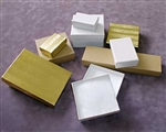 "#34 Cotton Filled Jewelry Box 3.5""x3.5""x2"""