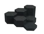 Hexagonal Riser 6 Piece Set Black Velvet, 4""