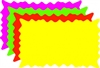 "<!23>Fluorescent Burst Rectangle Cards 7"" x 5"" Qty of 100"