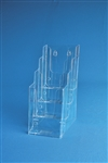 "4 Tier Injected Moulded Plastic Counter Brochure Holder  4"" x 9"" w/ 1.75""D Pocket"