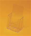 "Injected Moulded Plastic Counter Brochure Holder  4"" x 9"" w/ 1.75""D Pocket"
