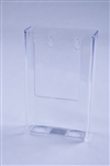 "Injected Molded Plastic Wall Mount Brochure Holder  4"" x 9"""