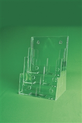 "3 Tier Injected Moulded Plastic Counter Brochure Holder  8.5"" x 11"" w/ 1.4""D Pocket"