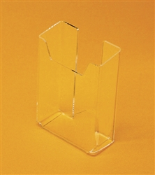 "Acrylic Counter Half Page Brochure Holder  6""H x 6.25""W x 3""D"