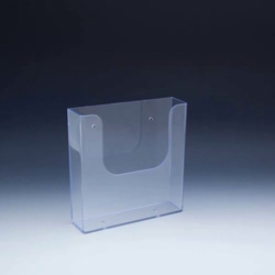 "Injected Molded Plastic Wall Mount Brochure Holder Half Page 6""H x 6.25""W x 1.5""D"