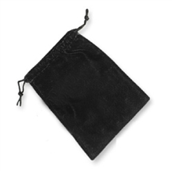 "Black Velvet Pouch 4""x5"" Qty of 12"