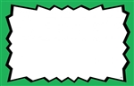 Blank Sign Card with Green Border